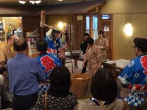 松本浅間温泉玉之湯 恒例 新春!餅つき大会